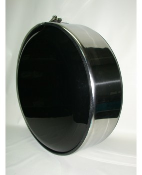 COPRIRUOTA 250x23 CM IN ACCIAIO INOX